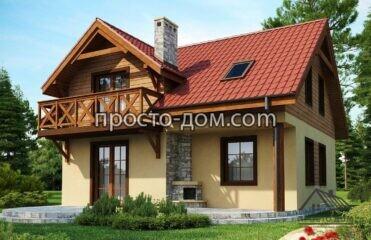 Двухэтажный дом 110м2 (2)