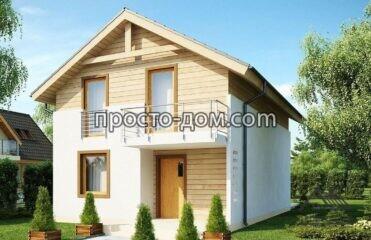 Проект двухэтажного деревянного дома (1)