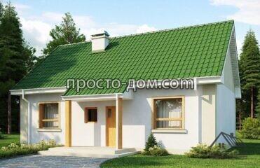 Проект дома с зеленой крышей (2)