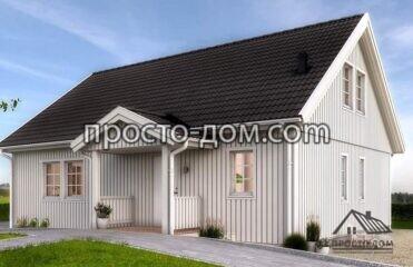Одноэтажный дом в 100м2